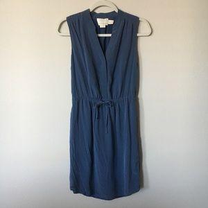Cynthia Rowley Blue Silk Tie Dress Size 2